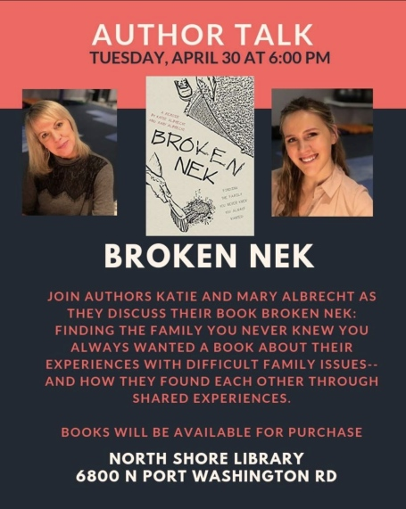 book signing and talk